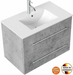 Waschtisch mit Unterschrank 90 cm Waschplatz Homeline 2 Softclose Schubalden