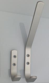 Garderoben Kleiderhaken Aluminium Silber eloxiert Wand Mantel Jackenhaken *522