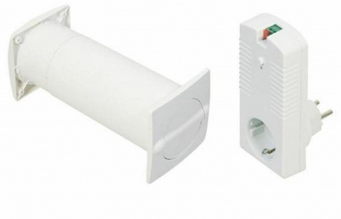 Elektronischer Mauerkasten Aeroboy Dunstabzug Ø 129 mm Lüftungsklappe *526826