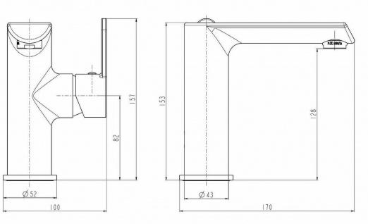 Waschtischarmatur Badarmatur chrom Einhandmischer Bad Waschbecken-Armatur *0380 - Vorschau 2