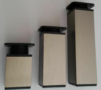 Möbelfuß höhenverstellbar Möbelbein 40x40 mm Sockelfuß 6 cm und 10 cm *9380