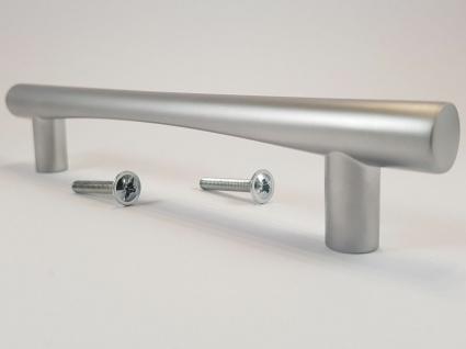Möbelgriffe BA 128 mm Griffe Küche Chrom matt Tür Schrankgriffe Alufarbig *9046