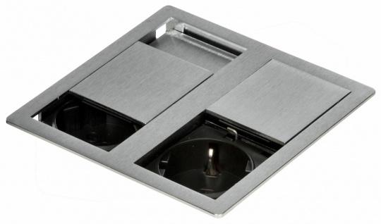 Küchen-Steckdose IP54 Einbausteckdose 3400 W VersaHIT Edelstahl Optik *571086