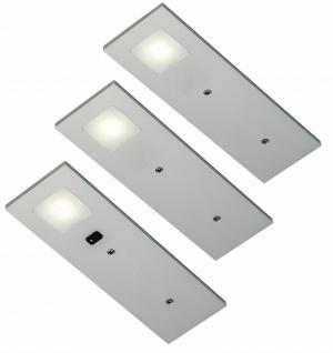 LED Unterbauleuchte Küche 3x3, 5 W Unterbaulampe Sensorschalter Dimmer *555352