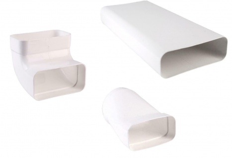 Dunstabzug Abluft Küche 150x70 mm Flachkanal Set 3 Teile Küchenabzug *527601
