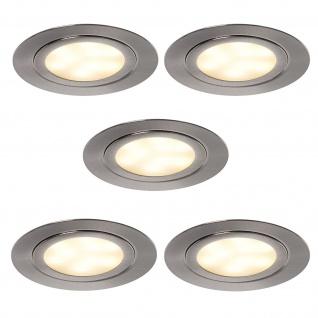 LED 5er Set Küchen Einbaustrahler ALEXA Schrank Einbauleuchte Einbauspot *552054