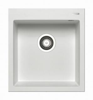 Küchenspüle 46x50 cm moderne Einbauspüle Istros Spülbecken eckig 1 Becken Spüle