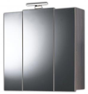 LED Spiegelschrank 68 cm Sonoma Trüffel Badspiegel Schalter Steckdose *5413-38