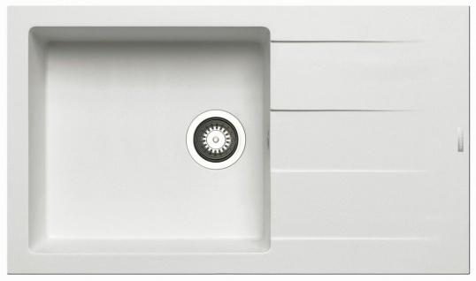 Küchenspüle 86 x 50 cm Einbauspüle Athlos Plus Pyramis Spülbecken 1 Becken Spüle