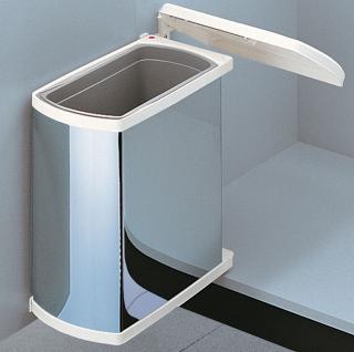 Hailo Uno 18 Liter Abfall Küchen Mülleimer Dreh-Kipp-Deckel Kosmetikeimer *43428