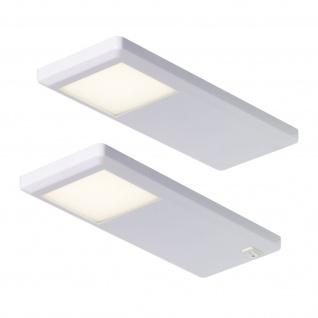 LED 2-er Set Küchen Unterbauleuchte PINTO Lampe 2 x 3 Watt Neutralweiss *551743