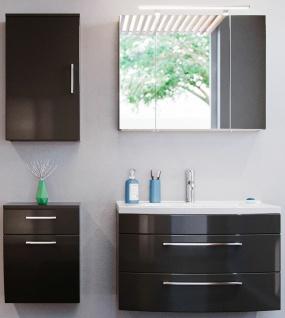 Badmöbel-Set Badset 4 Teile Waschplatz 82 cm Spiegelschrank Badezimmer *8000064