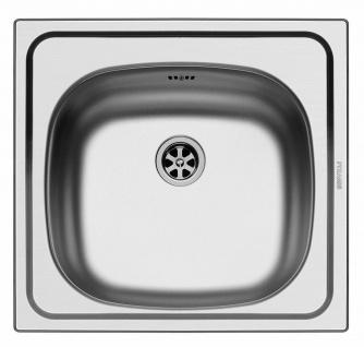 Einbauspüle 46, 5x43, 5 cm kleine Küchenspüle Spüle Singlehaushalt Spülbecken E33