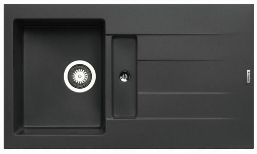 Einbauspüle 86x50 cm Hahnloch Pyragranite Küchenspüle Athlos Spülbecken Spüle