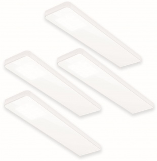 4-er Set LED Küchen Unterbauleuchte Alu 4 x 5 W Konverter Sensor Dimmer *555086