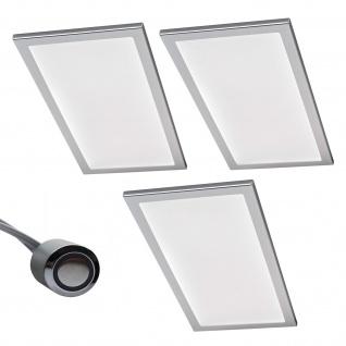 3-er Set LED Licht Küchen Unterbauleuchte BASSO 3 x 6 W Warmweiss Dimmer *567850
