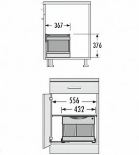 Einbau-Mülleimer Küche 30 L Müllsammler Abfalleimer Hailo Müllsystem *516063 - Vorschau 3