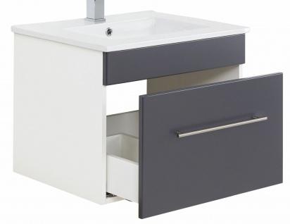 Waschtisch 61, 5 cm VIVA Gäste Bad WC hängend Keramikbecken Waschplatz Schublade