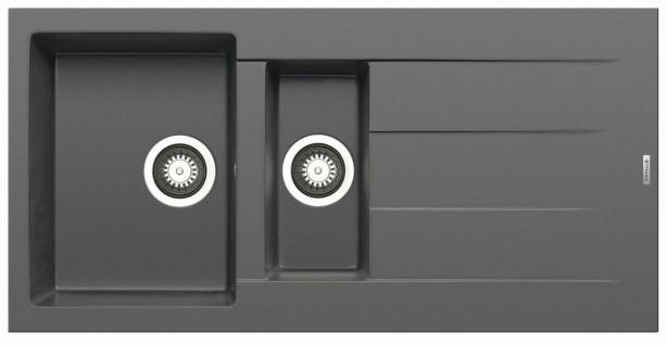 Einbauspüle Athlos 1, 5 Becken Spüle moderne Küchenspüle 100x50 cm Spülbecken