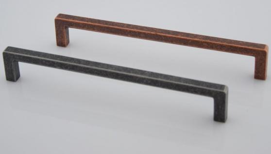 Schrank Tür Möbelgriff BA 192 mm Altzinn Küchengriff Kupfer Landhausstil *652