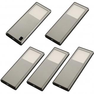 LED Küchen Möbel Unterbauleuchte 5-er Leuchtenset 5 x 3 W Edelstahloptik *537594