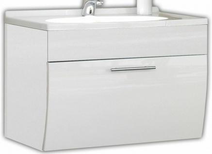 Waschplatz 70 cm Softeinzug Waschtisch Salona Gäste Bad WC Waschbecken *5601-76