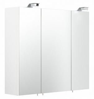 Badezimmer Spiegelschrank 70 cm mit LED Beleuchtung EEK A+ Badspiegel weiß *5423