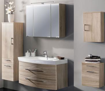 Badmöbel Set 5 Teile LED Spiegelschrank 8 W Waschplatz 100 cm Hochschrank *5010