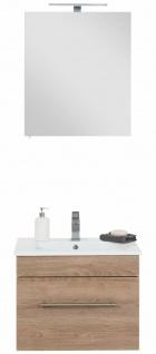 Badset VIVA 2 Teile Waschplatz 61, 5 cm Keramikbecken LED Spiegelschrank *Vi2-214