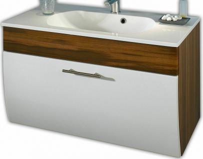 Waschplatz 90 cm Waschbecken Gäste Bad WC Waschtisch Mineralgussbecken *5603-91