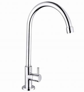 Standventil Kaltwasser Armatur LIGOS Gäste WC Wasserhahn Messing Verchromt *0614