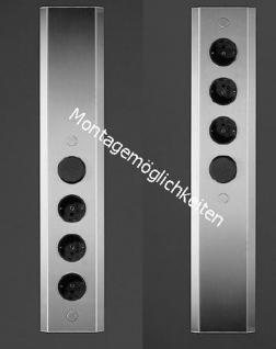 Teleskop Schuko Küchen-/Wandsteckdose mit Schalter Edelstahl gebürstet *34289