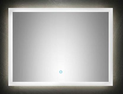 LED Bad Wandspiegel 80x60 cm Touch Bedienung 24 W warmweiss 120 LED/Meter *8060