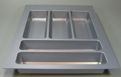 Besteckeinsatz für Legrabox Schubkästen 45cm Kunststoff schwarz