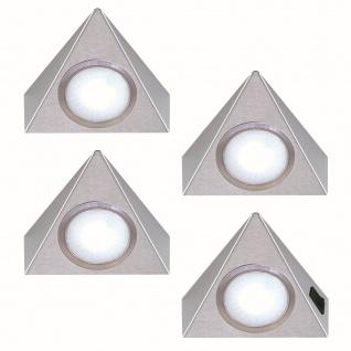 4-er Set LED Dreieck Unterbau Küchenleuchte 4 x 1, 3 Watt Neutralweiss *551910