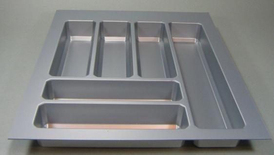 Schubladen Besteckeinsatz Teck 50 cm Schrank kürzbar Küchen Besteckkasten *44573