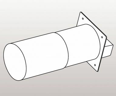 Teleskop Abluft Mauerkasten Flachkanal 150x80 mm für Design Aussengitter *576661