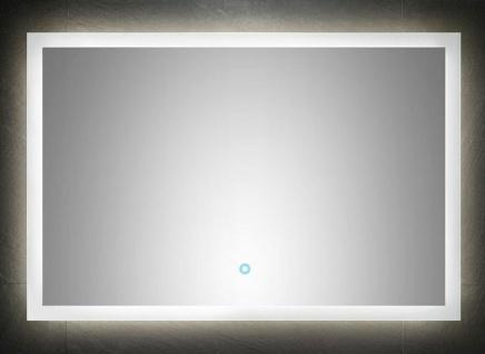LED Badspiegel 90x60 cm Wandspiegel 25 Watt warmweiss Touch 120 LED/Meter *9060