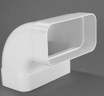 Flachkanal 150 x 70 mm Bogen 90° Grad senkrecht Abluftbogen Lüftungsbogen *50106