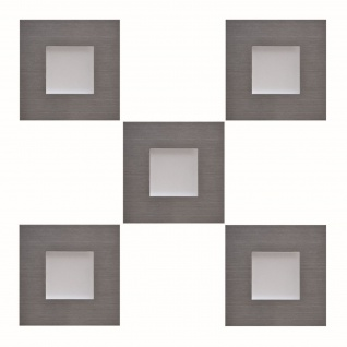 5-er Set LED Edelstahl Sockel Einbauleuchte 5 x 0, 35 W Küche Warmweiss *543441