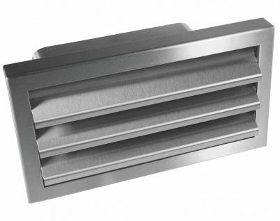 Edelstahl Außengitter 220x90 mm mit Rückstauklappe Lüftungsgitter Abluft *528240