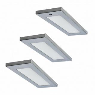 Flächen-LED 3er Unterbauleuchte Küche 3x4 W Unterbaulampe Mona mit Dimmer 571598