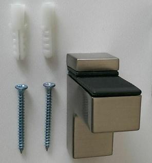 1 Regalbodenhalter 18 mm Regalbodenträger Edelstahl Optik Bodenträger *509