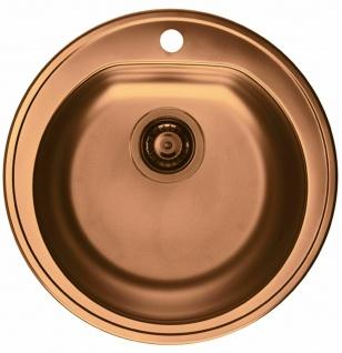 Alveus Einbauspüle Ø 510 mm Rundbecken Küchenspüle Spüle Kupfer Becken *1070807 - Vorschau 1