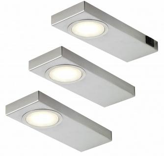3er Set LED Unterbauleuchte Küche 3x3, 5 W Edelstahl Unterbaulampen Set *549245