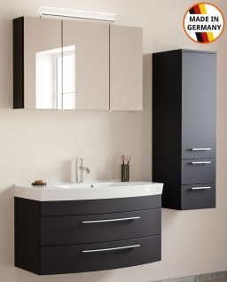 Badmöbelset Modena Badset 3 Teile Waschplatz 100 cm Badeinrichtung Badezimmer