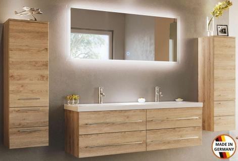 Badmöbelset Aurelion XL großer Doppelwaschtisch 144 cm Badmöbel Doppelwaschplatz