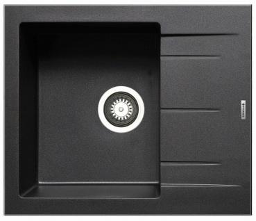 Kleine Einbauspüle 59x50 cm moderne Küchenspüle Alazia Spülbecken carbon Spüle