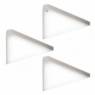 LED 3er Unterbauleuchte Küche 3x5 W Dreieckleuchte Helligkeit regelbar *571475