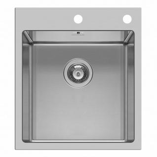 Küchenspüle Einbauspüle 50, 5 cm Hahnloch Edelstahl Waschbecken Spüle *100082201